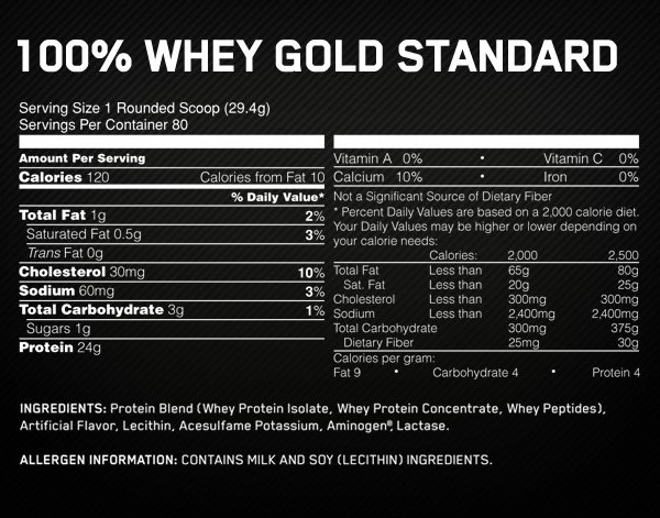 100% Whey Gold Standard4
