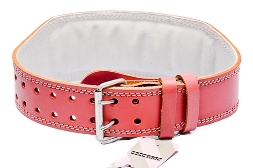 4 weightlifting belt real leather pink pattaya