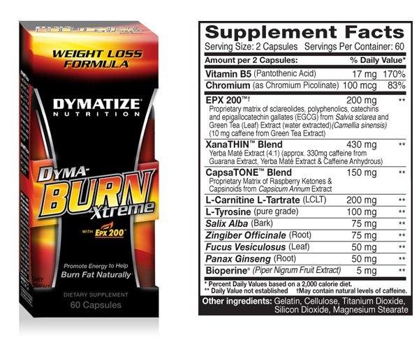 Dyma-Burn Xtreme 180 caps | Bear Gym Pattaya