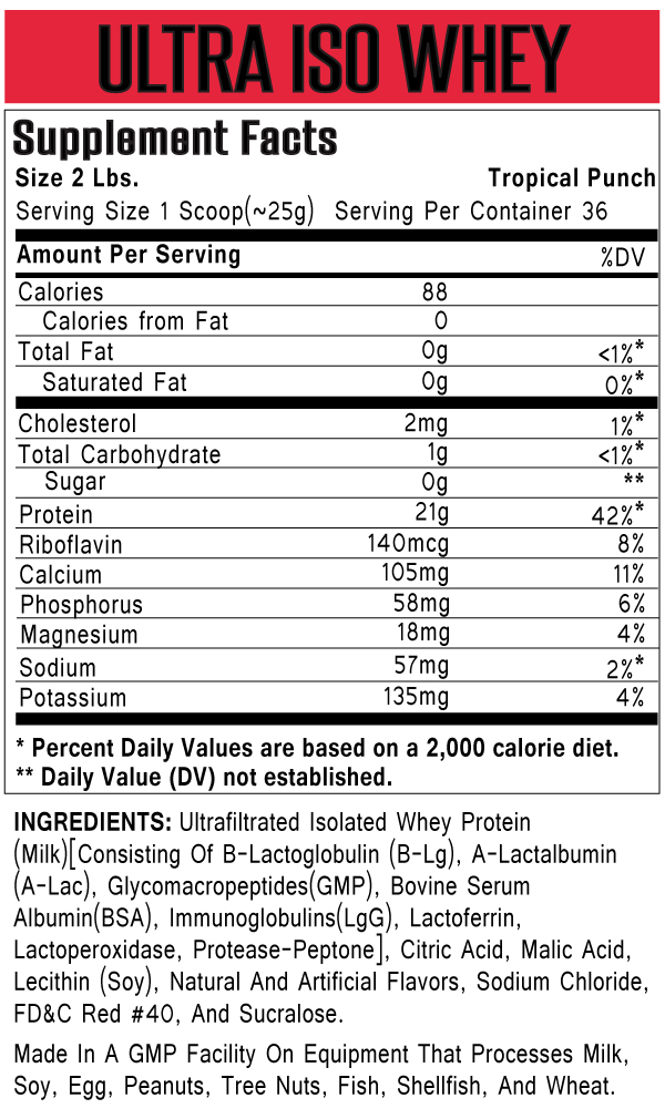 ultra iso whey protein universal nutrition